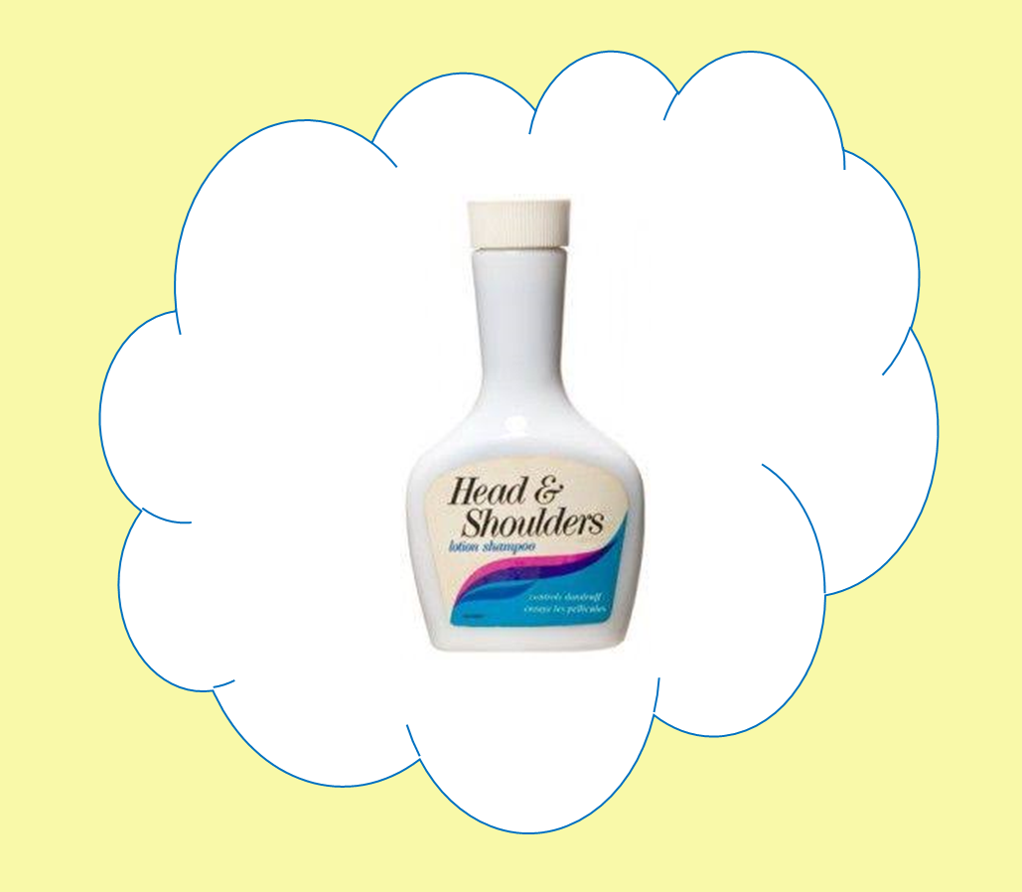 Old fashioned bottle of head & shoulders shampoo