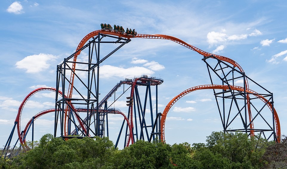 Tigress rollercoaster at Busch Gardens