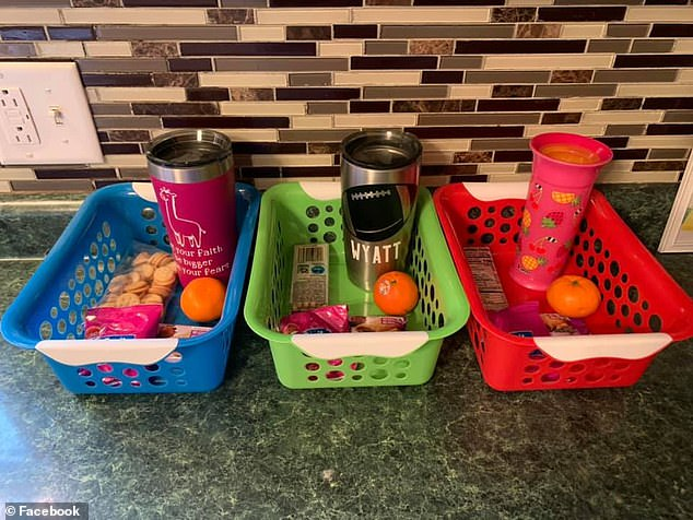 3 snack boxes with drinks and snacks for during coronavirus isaolation